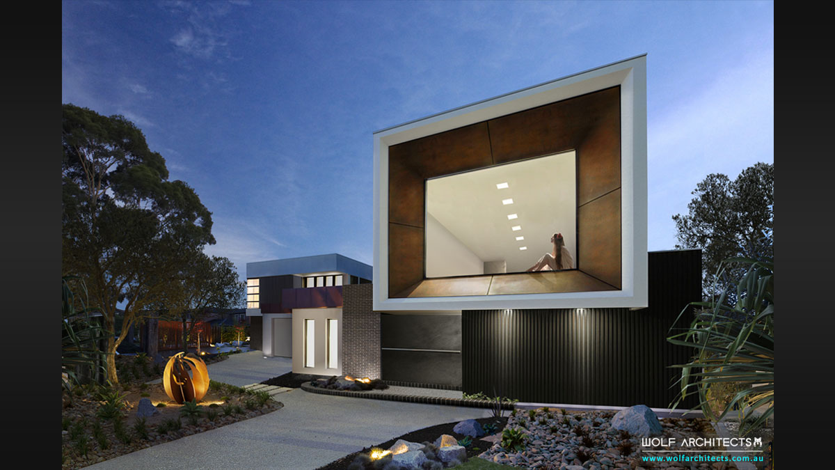 Artsists studio home and office by Melbourne Architects Wolf Architects