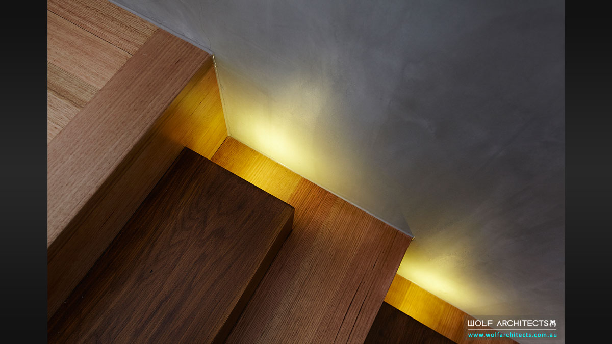 Clever lighting design and detail by Wolf Architects