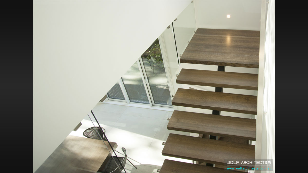 Finely crafted stair details by Wolf Architects