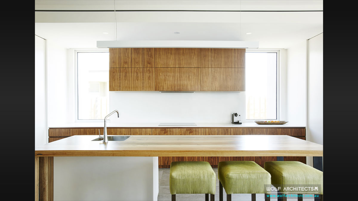 Light filled modern kitchen by Wolf Architects