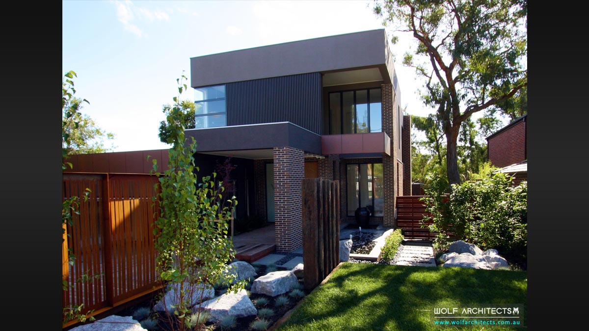 Modern Wolf Architects house with contemporary garden design
