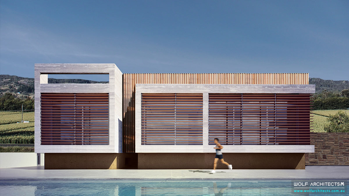 Modern contemporary Gymnasium commercial center with full sporting facilities by Wolf Architects
