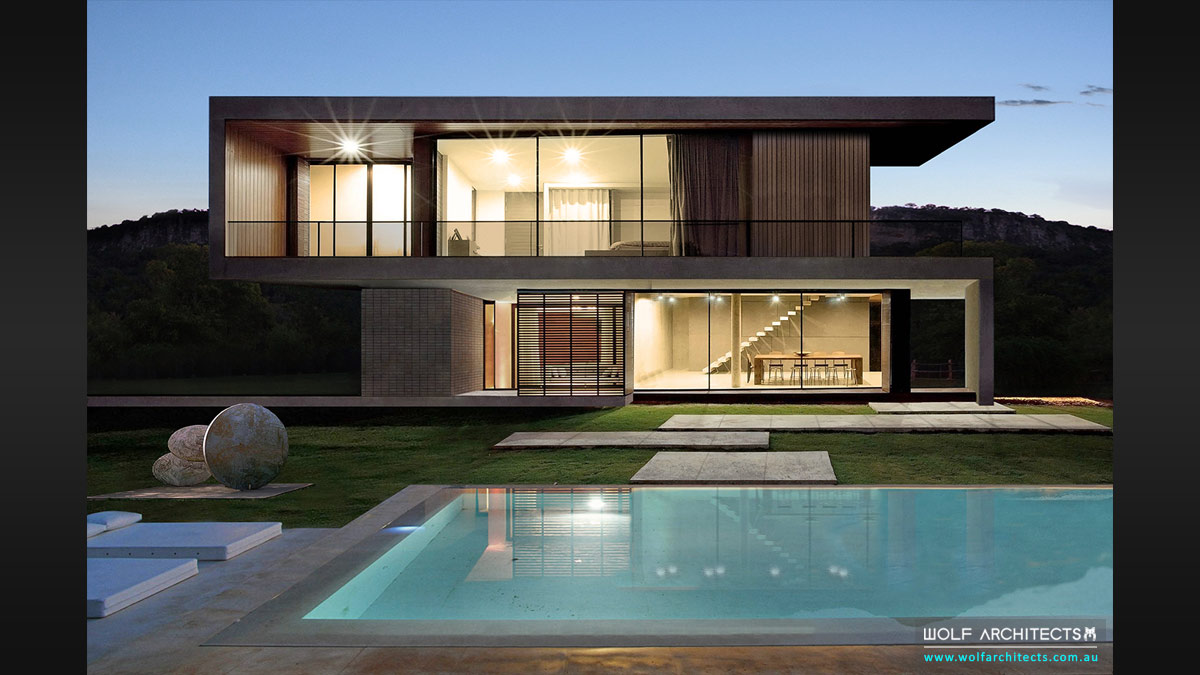 Pool House in best site with views by acclaimed international architects Wolf Architects