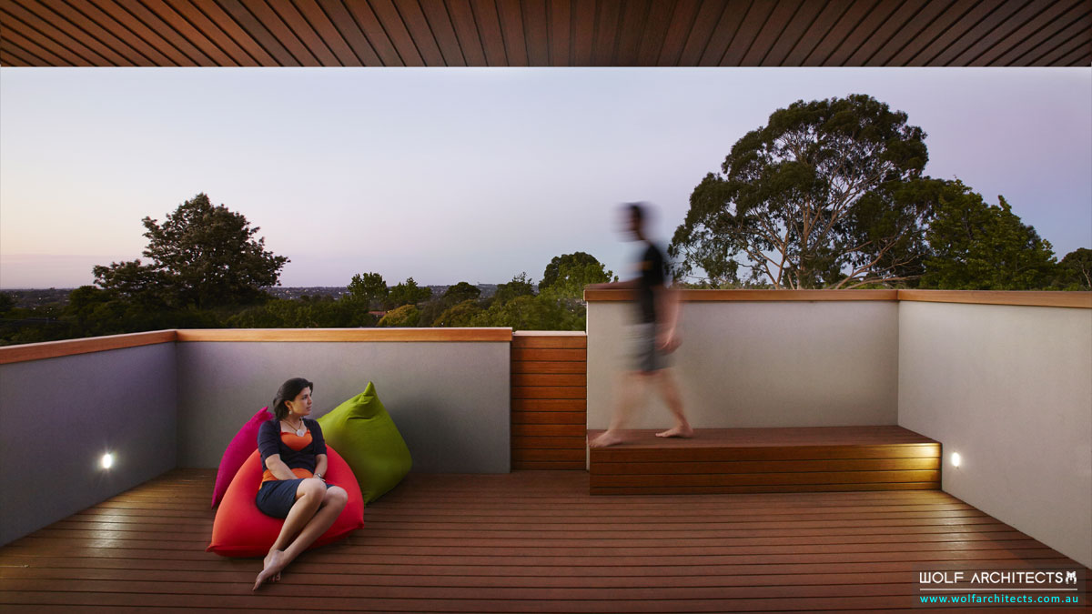 Roof top decks of amazing Wolf Architect designed home