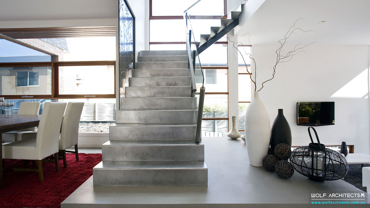 Steel Stair art piece by Wolf Architects