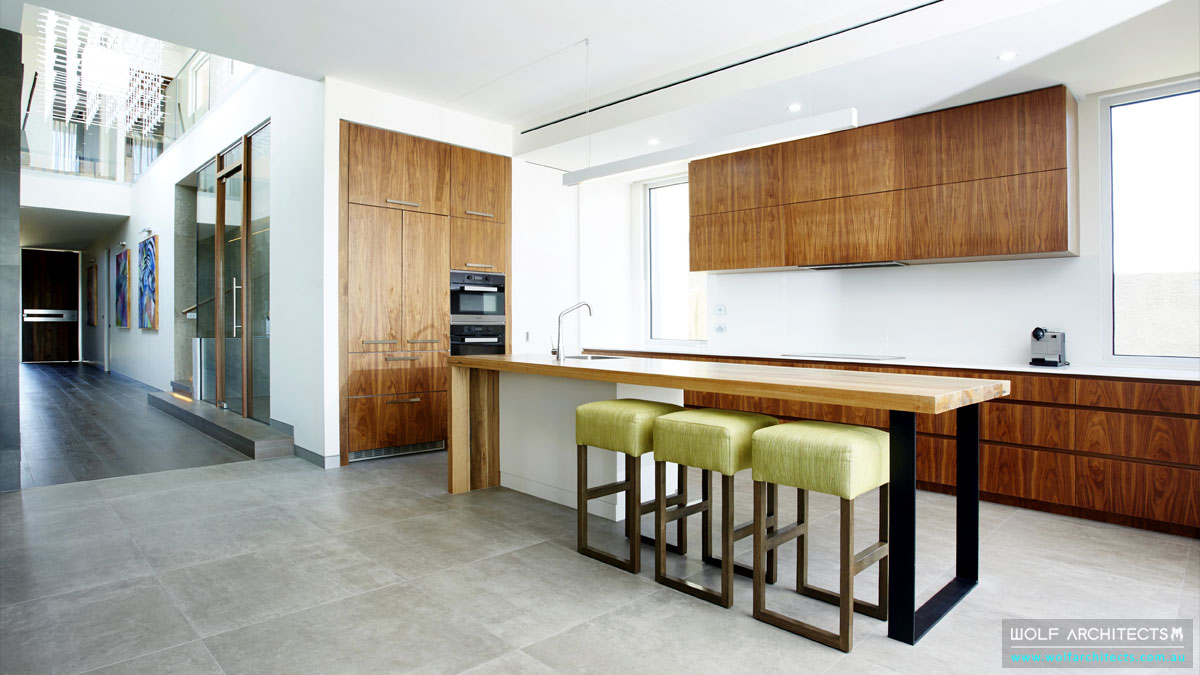 Wolf Architect designed Beach house Kitchen
