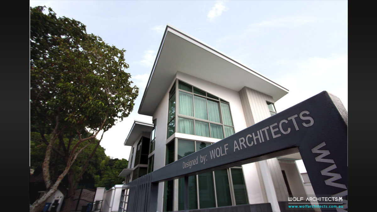 Wolf Architect designed house in Singapores best suburb