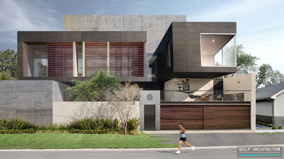 Wolf-Architects-Featured-Project-Concrete-Eight-House-Front-View