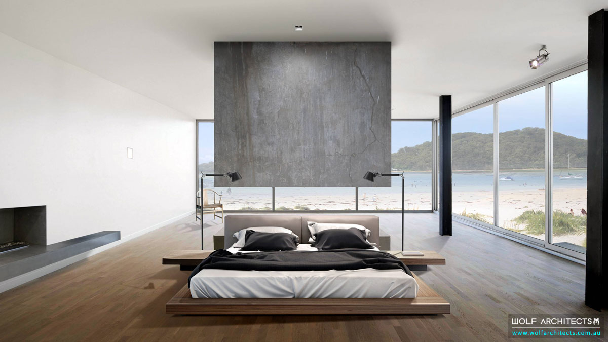 The Contemporary Beach House Bedroom