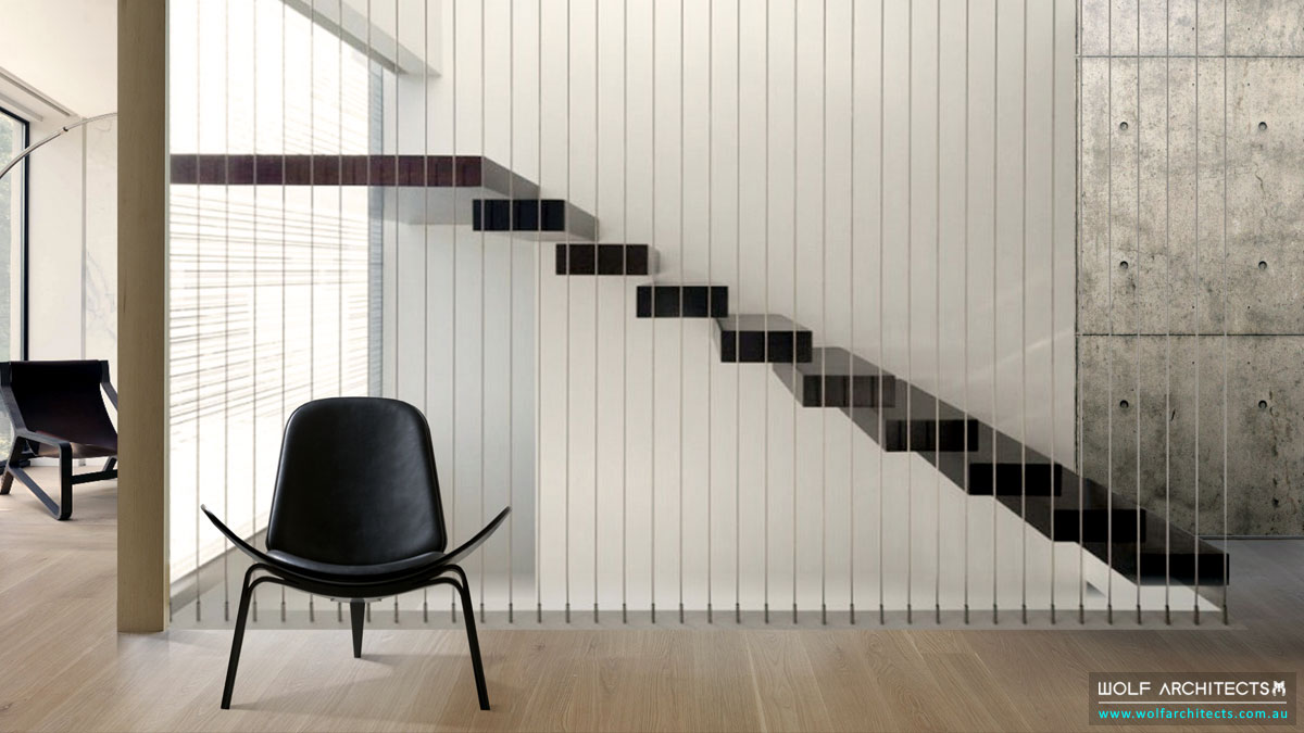 WolfArchitects-FeaturedProject-The-White-Block-House-Stairs-Timber-and-Wire