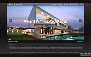 Wolf Architects New Website - Home Page