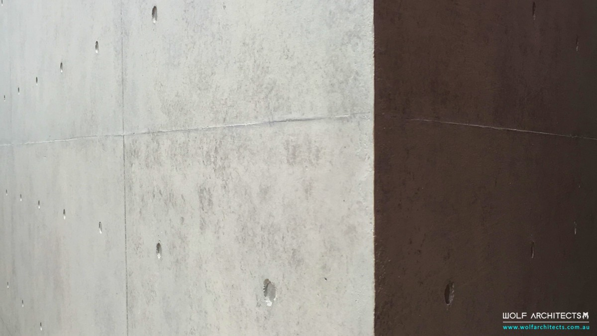 closeup of concrete