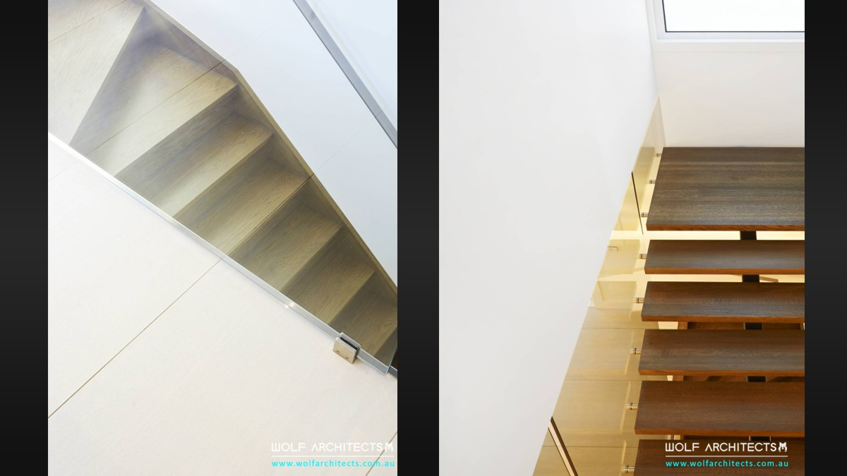 reserve view house stair design details