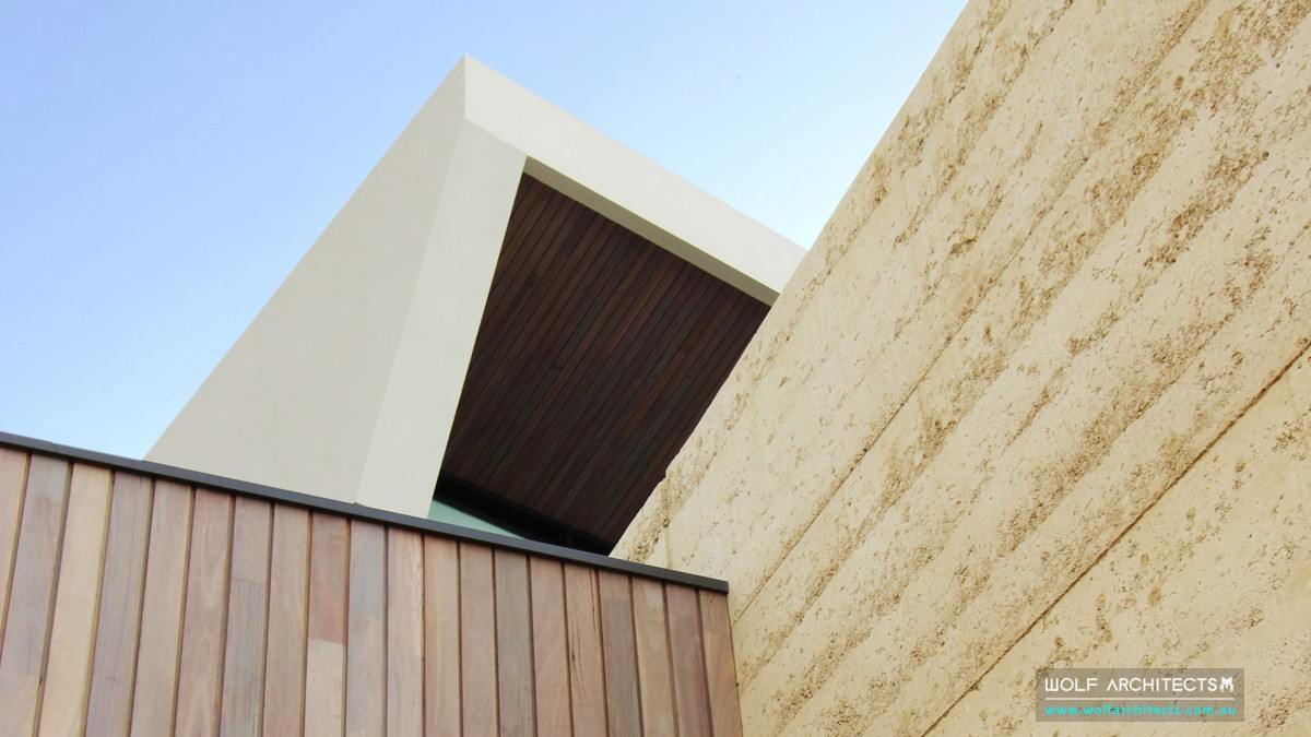 trewin house rammed earth art