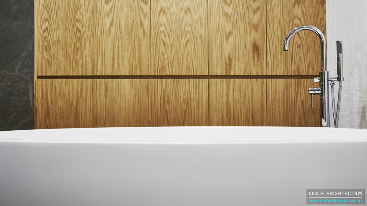 third house modern minimal bathtub
