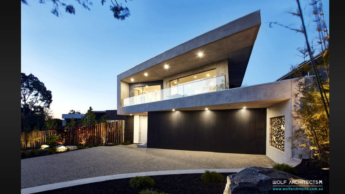 Third house modern contemporary architectural masterpiece by Wolf Architects