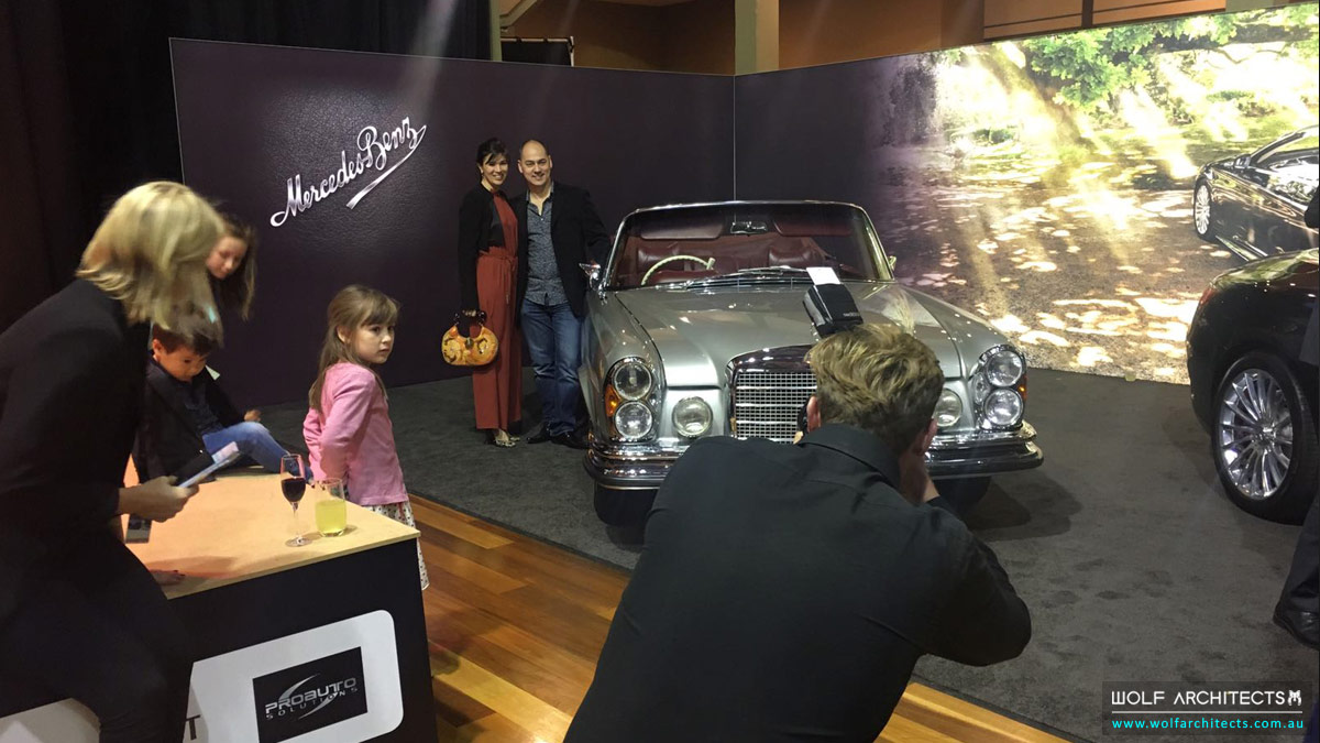 Motor Classica Taras Wolf and his Mercedes Benz
