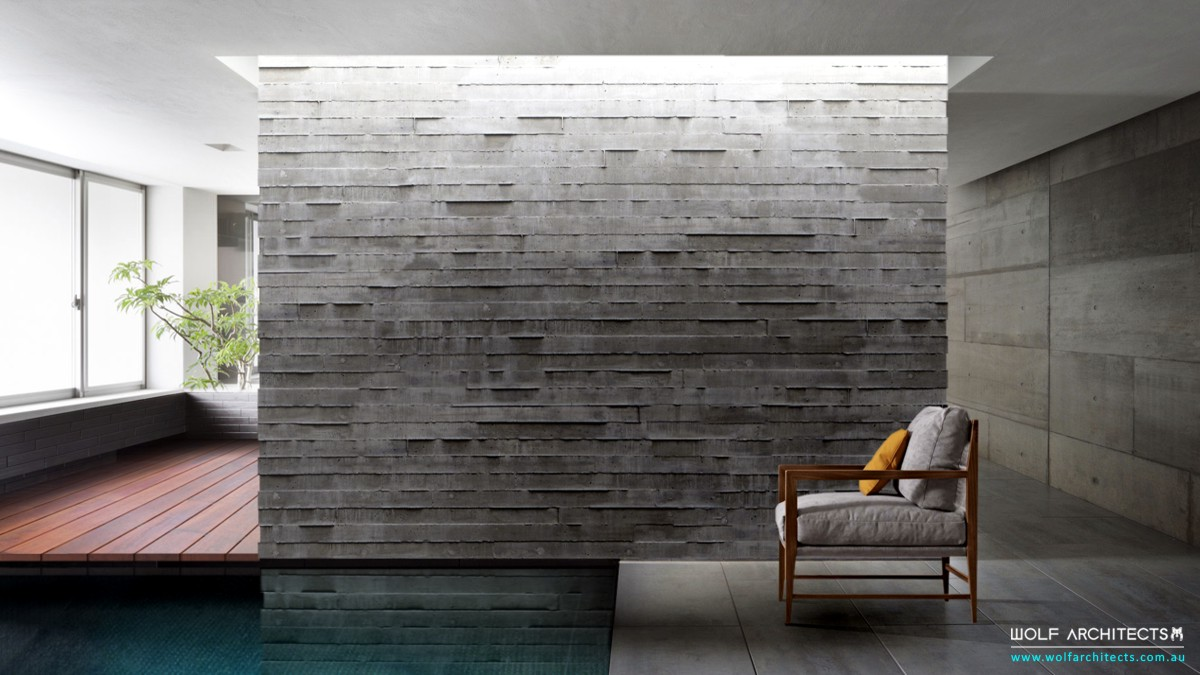 modern commercial Concrete wall by Wolf Architects