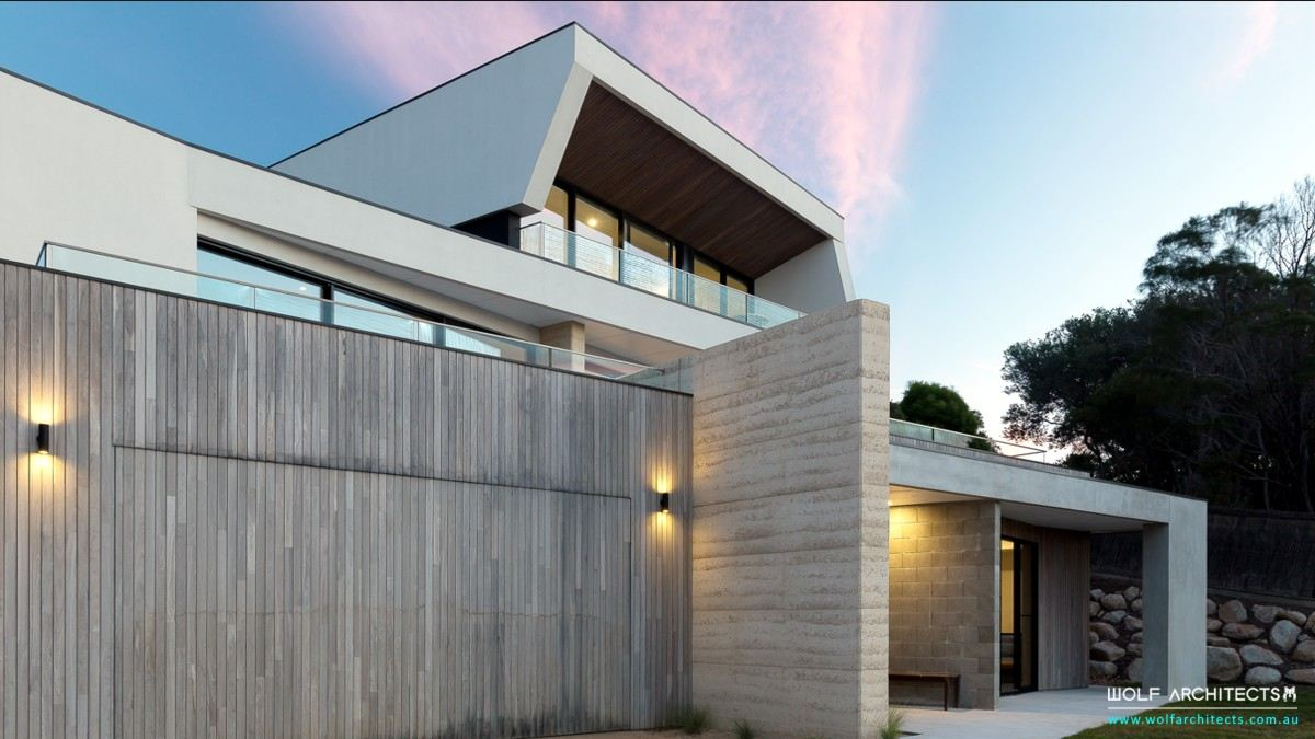 Mt Martha contemporary house front