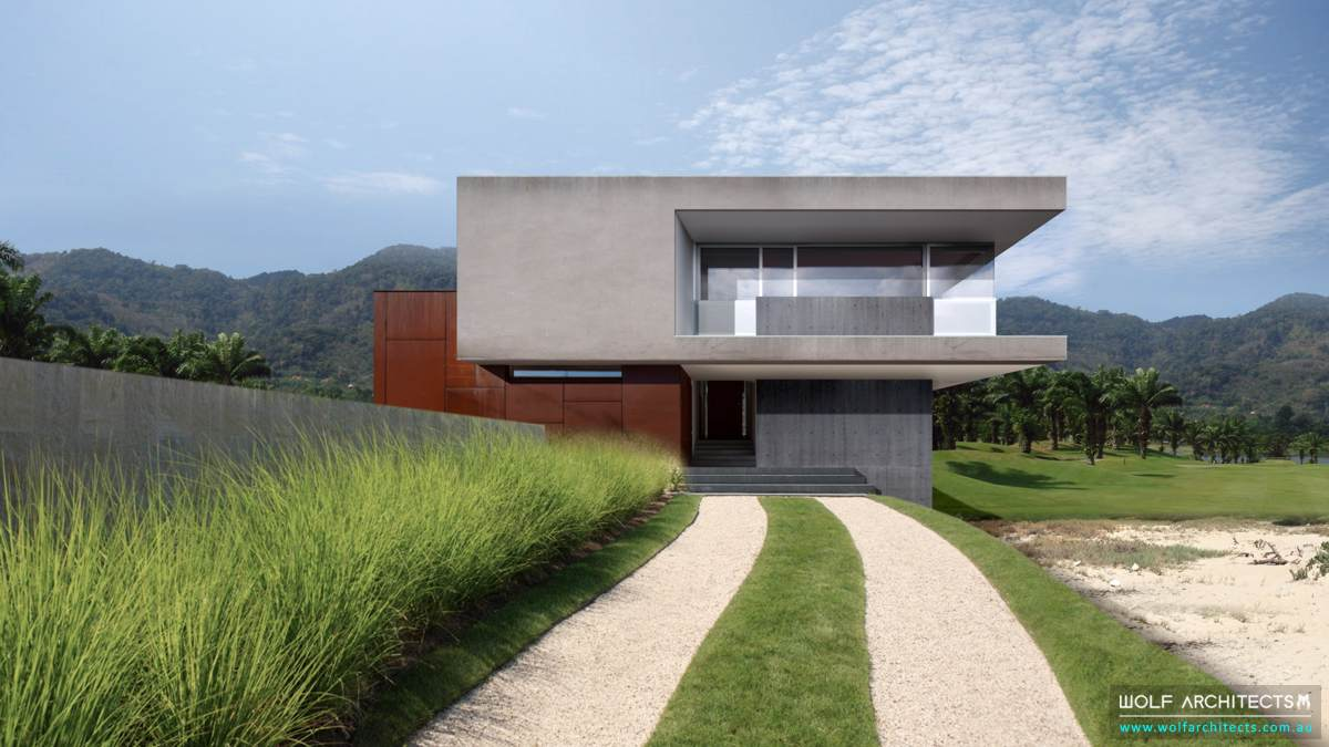 Contemporary Modern Golf course Villa by Wolf Architects