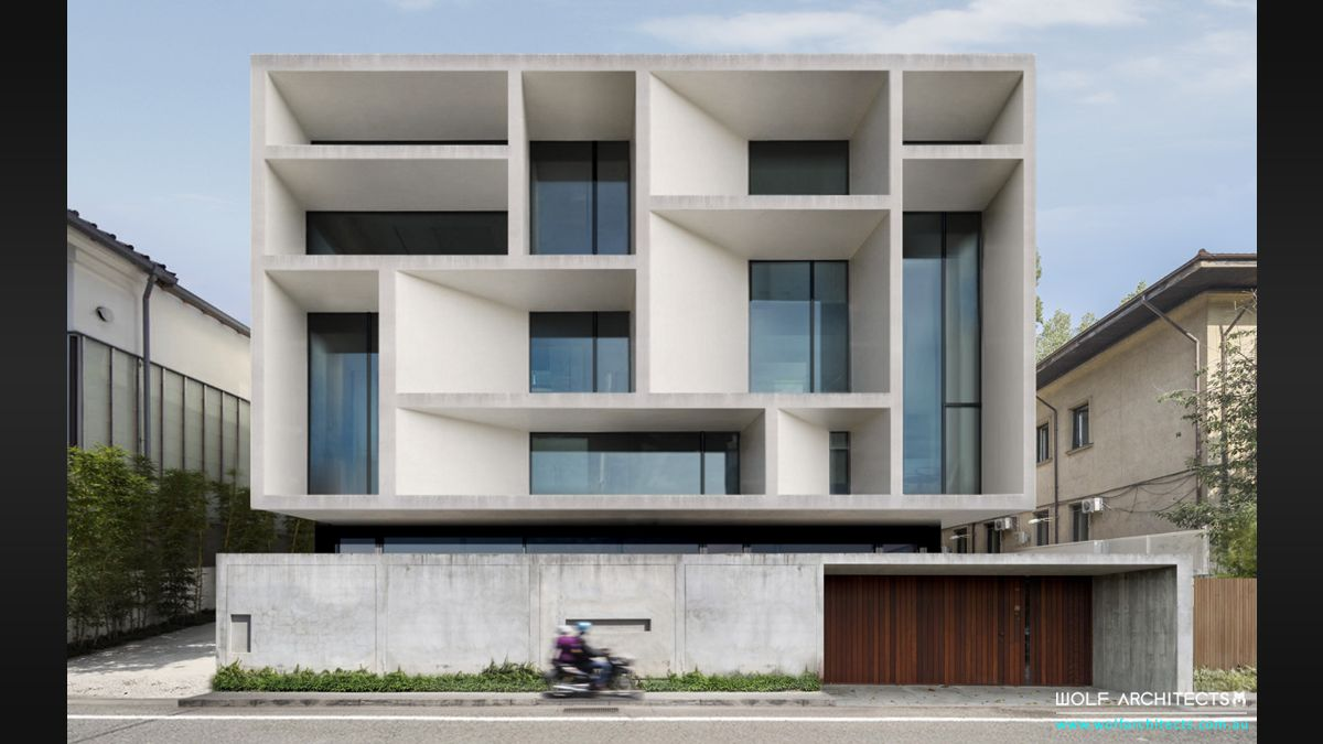 Bangkok Contemporary commercial office building by Wolf Architects