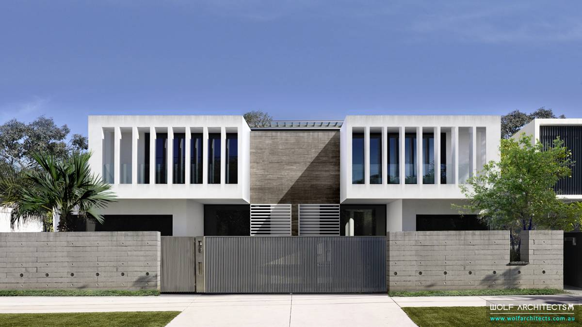 Modern contemporary Town house unit development by Wolf Architects