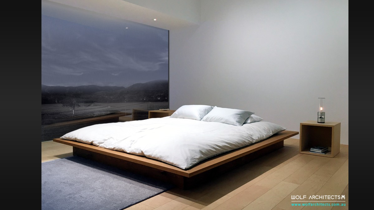 Lee house minimalist contemporary bedroom