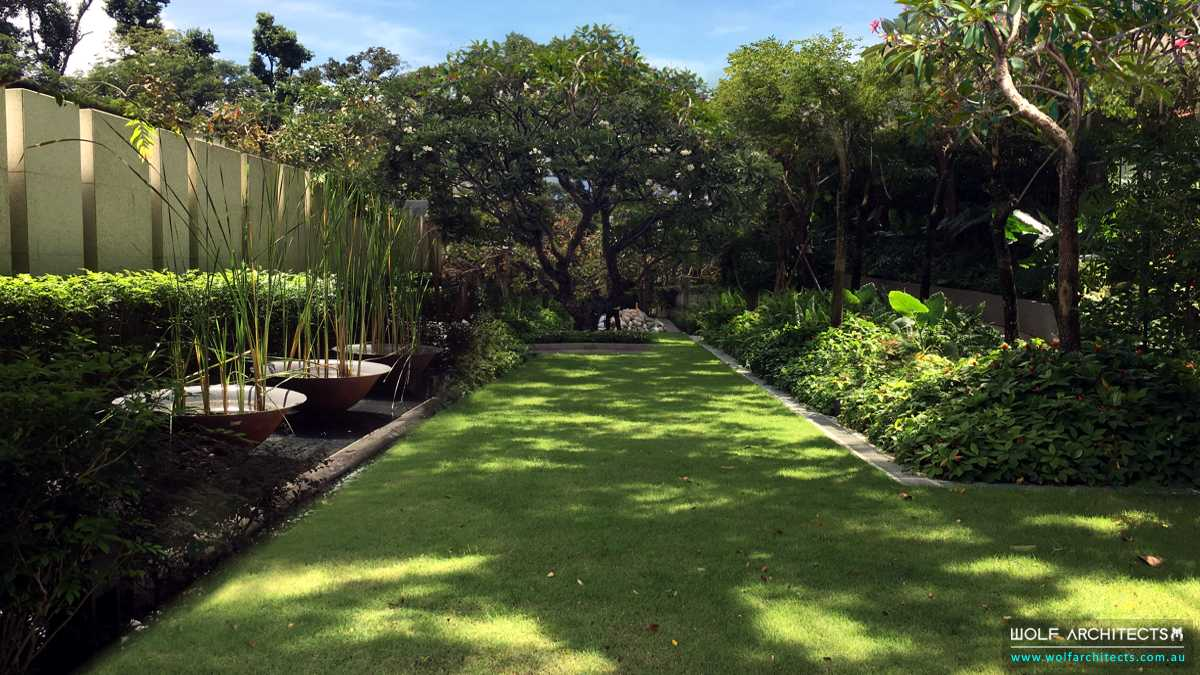 low maintenance tropical resort landscaping