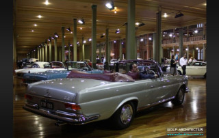 Taras Wolf and his Mercedes Benz at Motorclassica