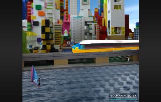 Lego Sky Train