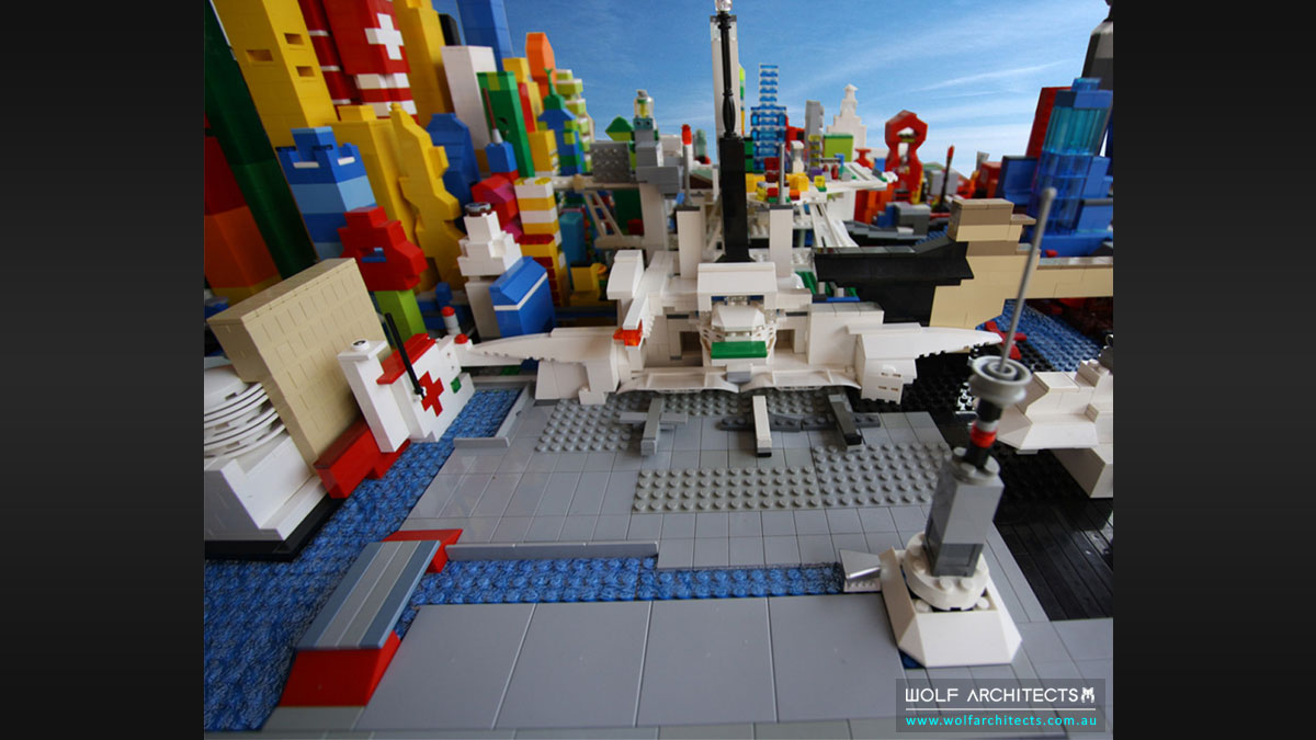 Lego wolf city airport