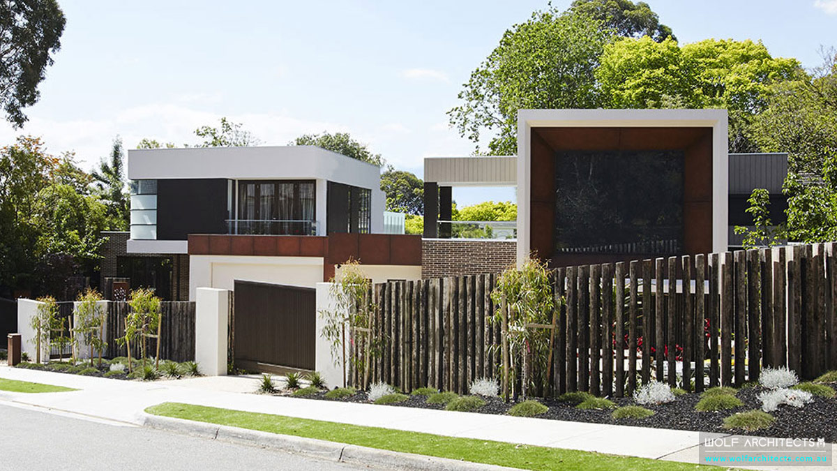 2 Wolf Architects designed homes in a row