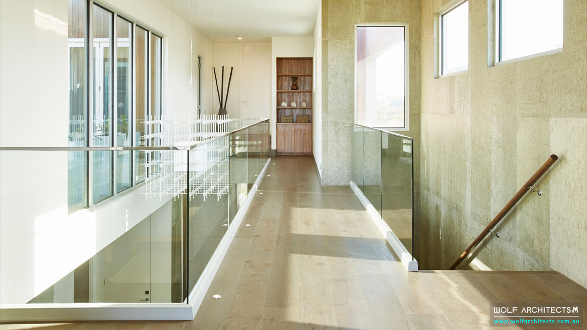Light enters from several directions in this Wolf Architect house