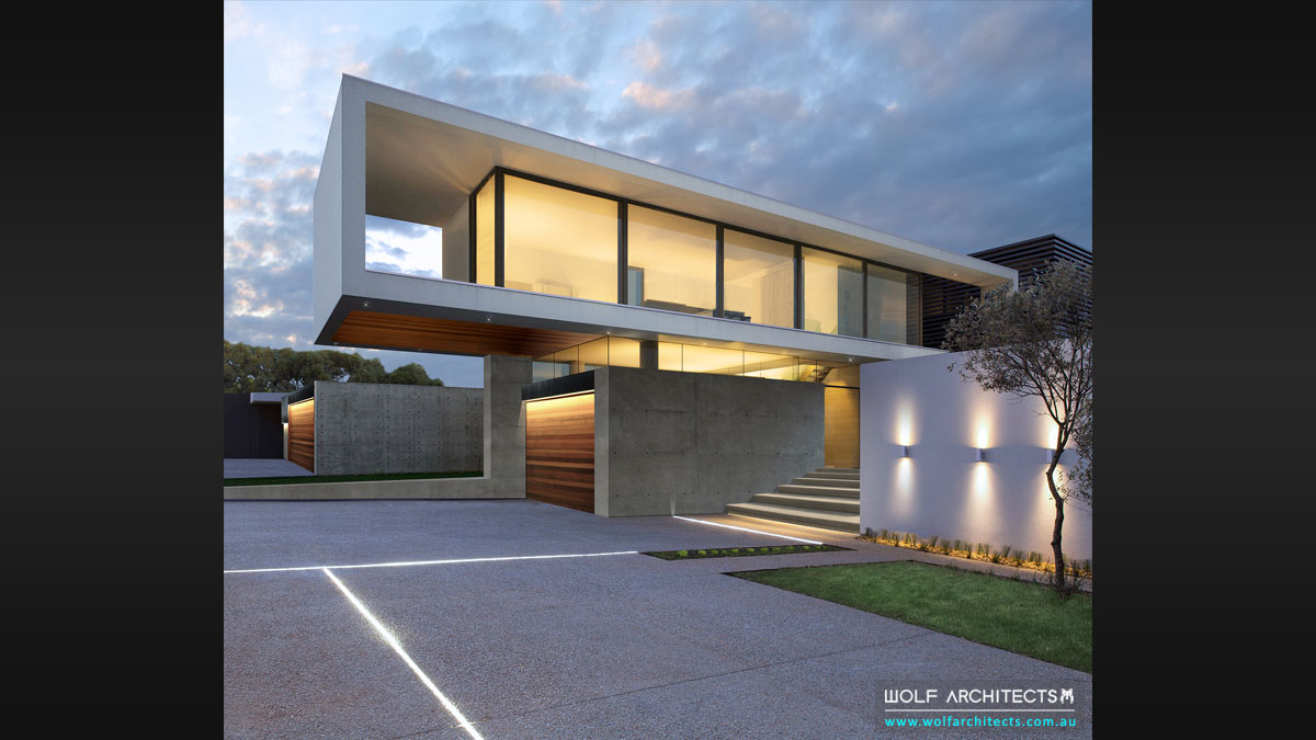 Modern innovative floating house by Melbournes dream home specialists Wolf Architects