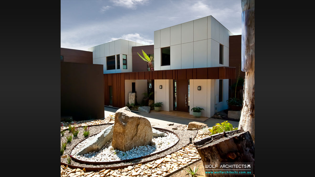 Modern landscpae designs to suit Wolf Architect houses