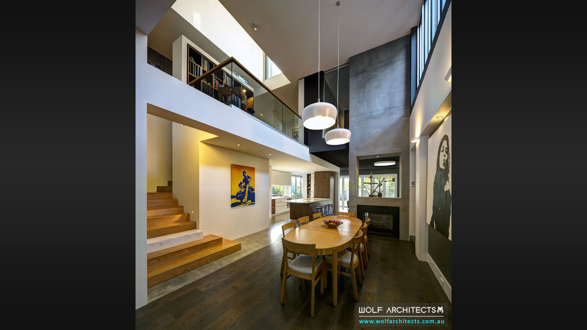 Wolf Architects dynamic interior super space