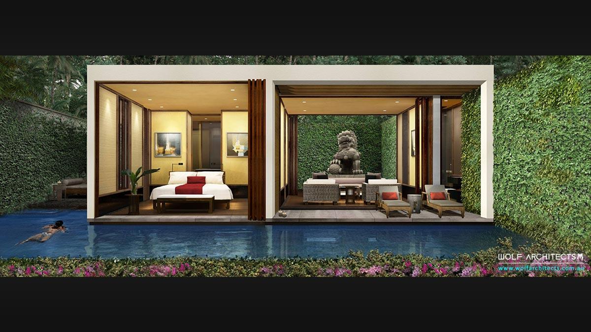 Future vision pool room / cabana