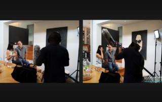 Taras and Rebecca Wolf being filmed for TV program