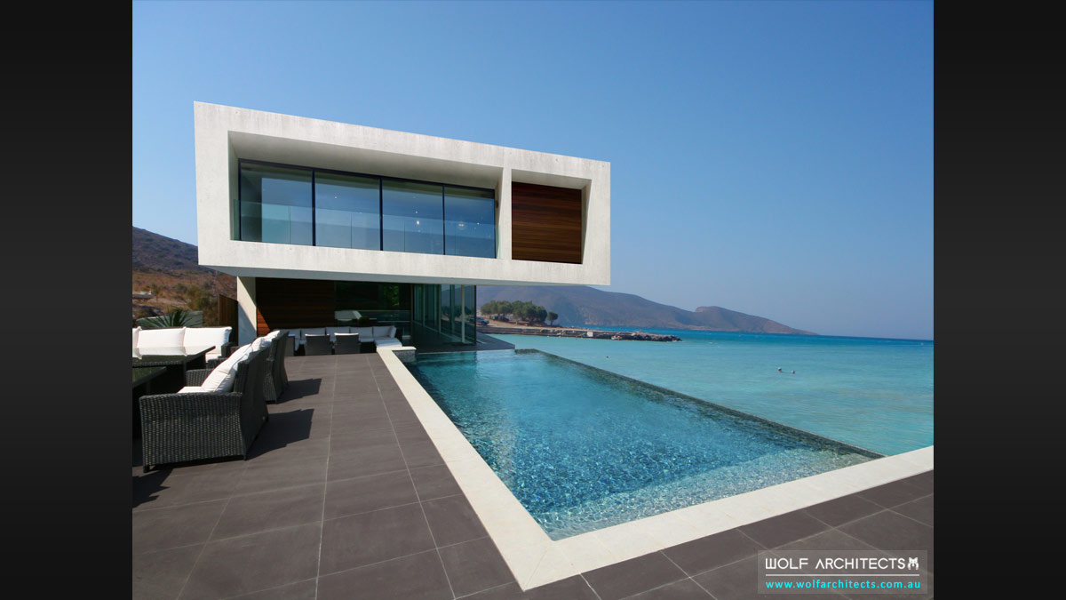 Beach home with infinity pool