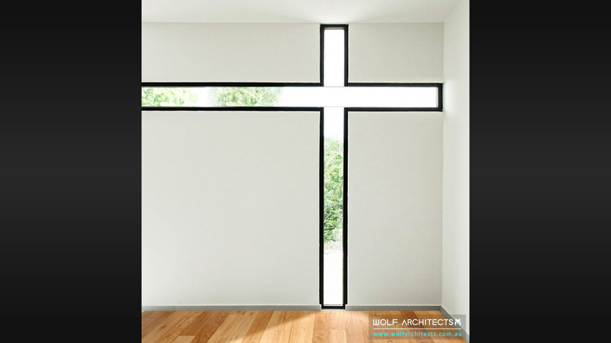 Modern home contemporary Prayer room by Wolf Architects
