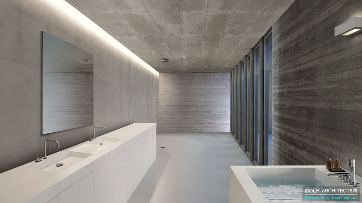 Concrete Eight House Bathroom