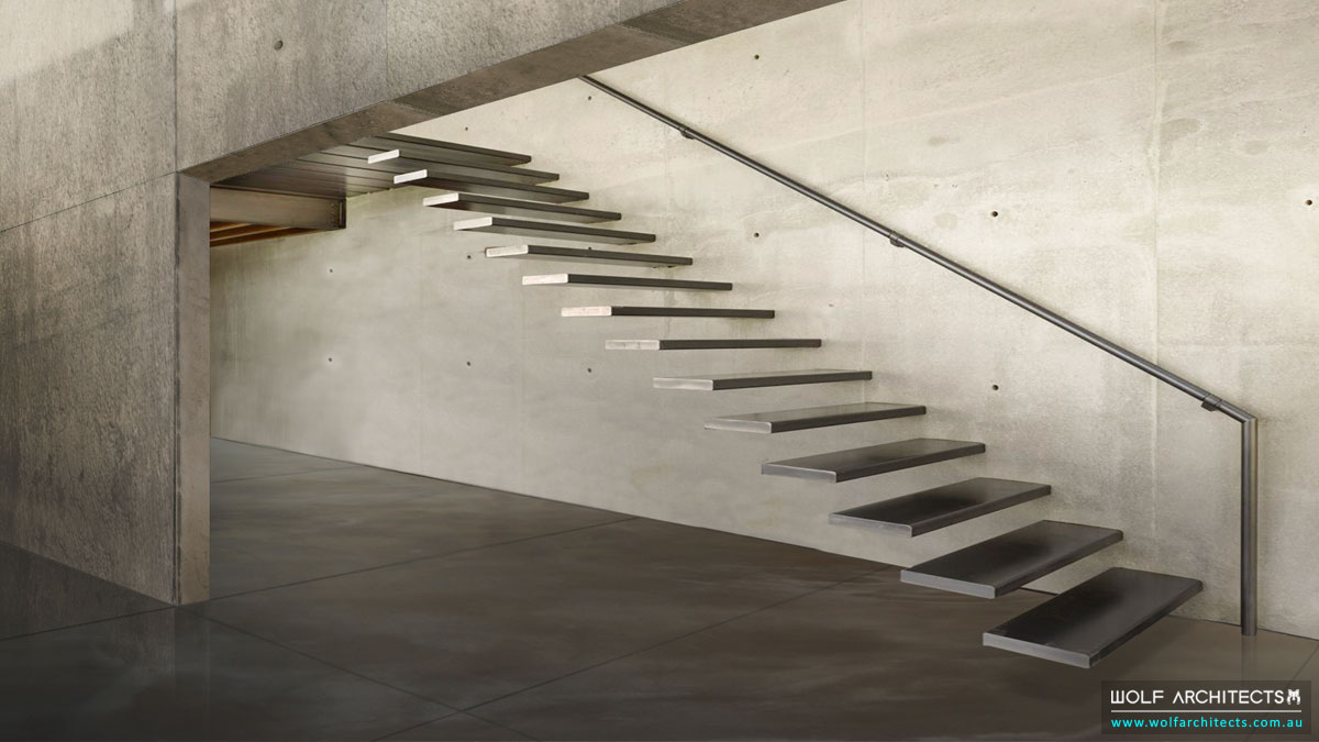 Concrete Eight House Stairs