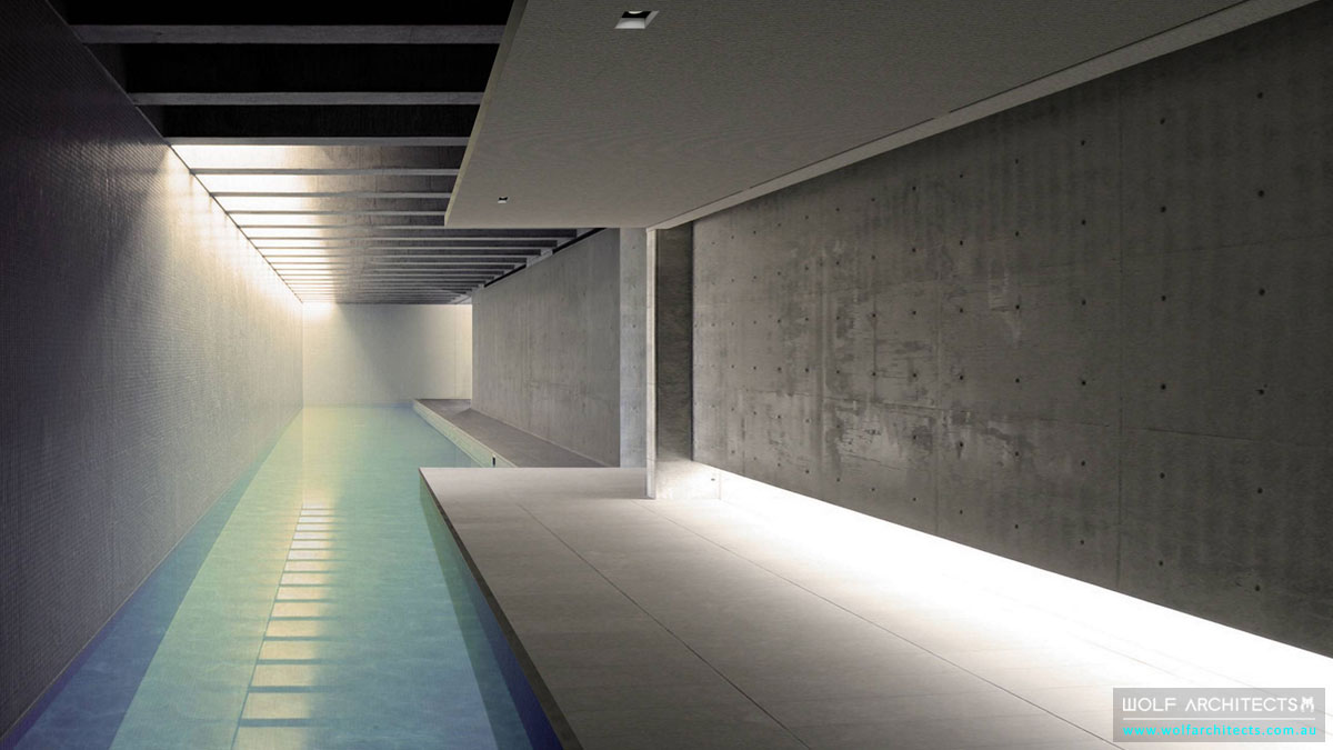 Wolf-Architects-Featured-Project-Concrete-Eight-House-Under-Ground-Tunnel-Lap-Pool