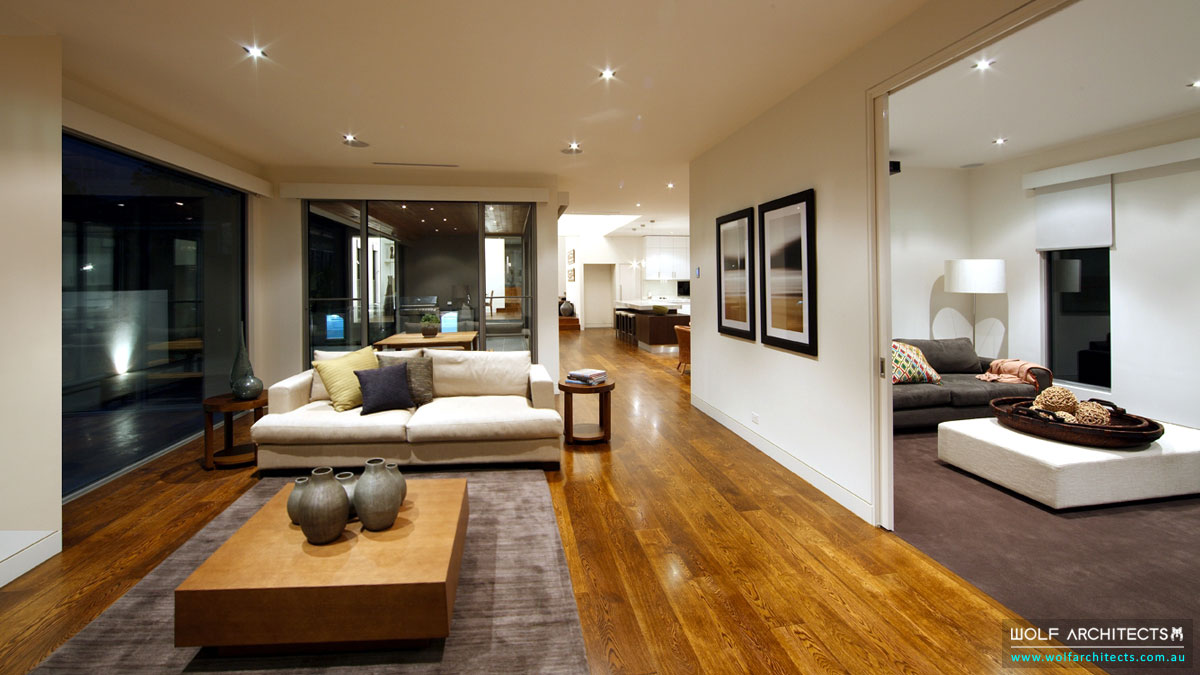 The Balwyn House living and lounge