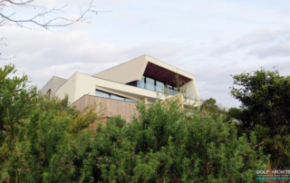 Mt Martha house from amongst the trees