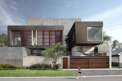 Concrete Eight House view from street