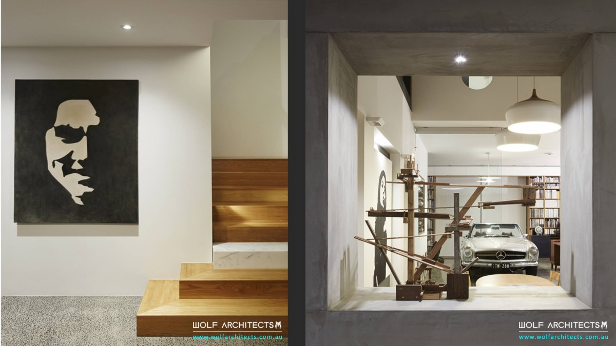 Award winning contemporary house artistic detailing