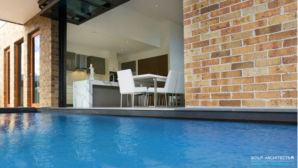 Modern Mount Waverley open plan living and pool