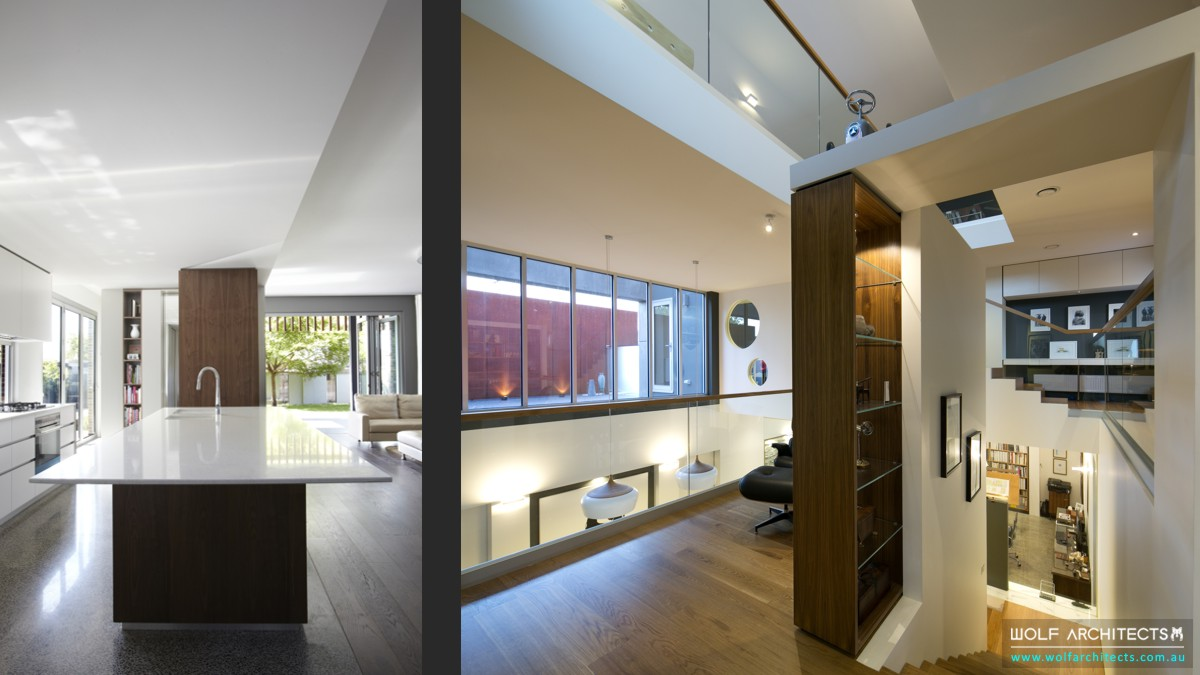 Wolf House Modern kitchen and open living spaces