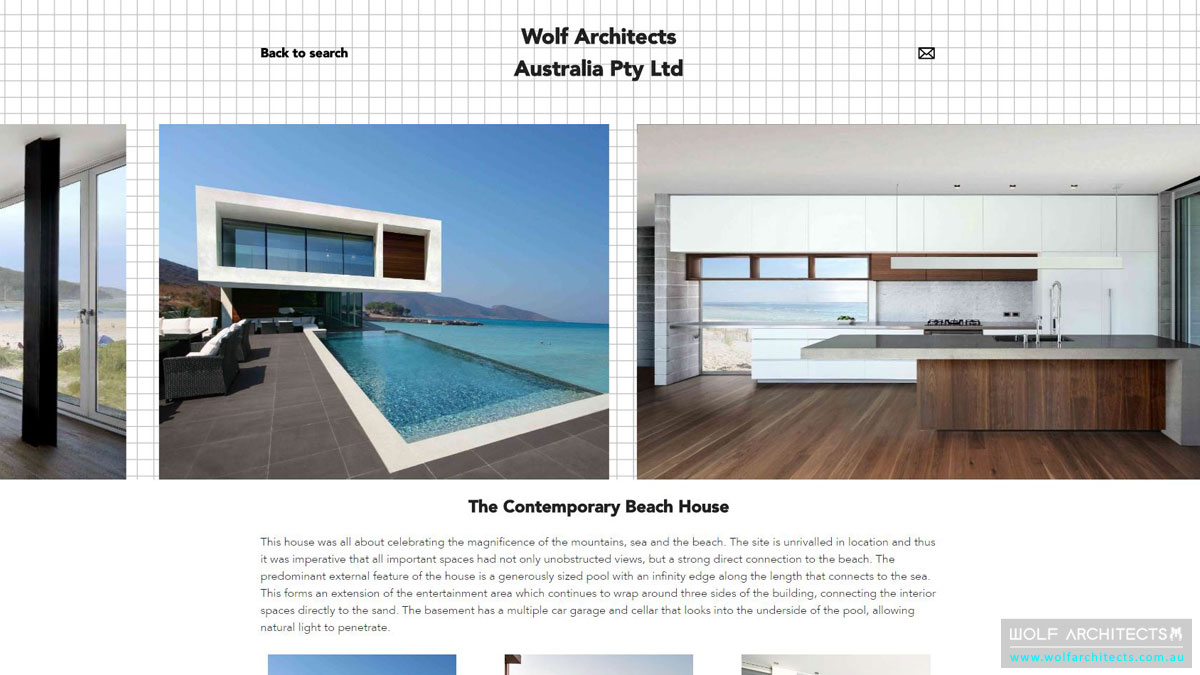 Architeam profile Beach house screenshot